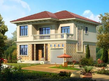 119平方米二层欧式小别墅设计图