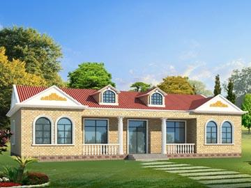农村一层漂亮小别墅设计图,20.64x12.54米,10-15万
